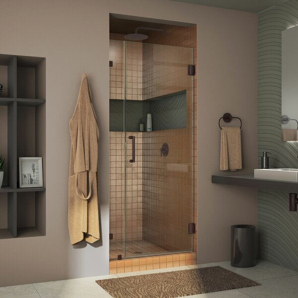 Unidoor Lux 32 x 72 Hinged Frameless Shower Door with Clearmax™ Technology by DreamLine