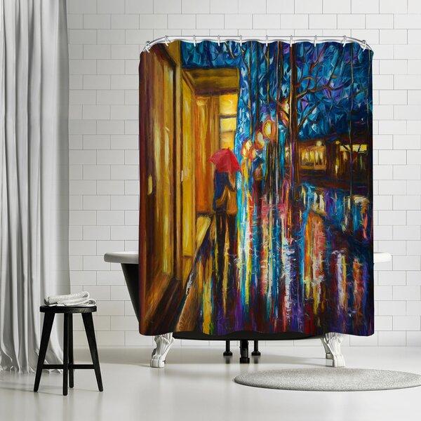 OLena Art Love in the Rain Shower Curtain by East Urban Home