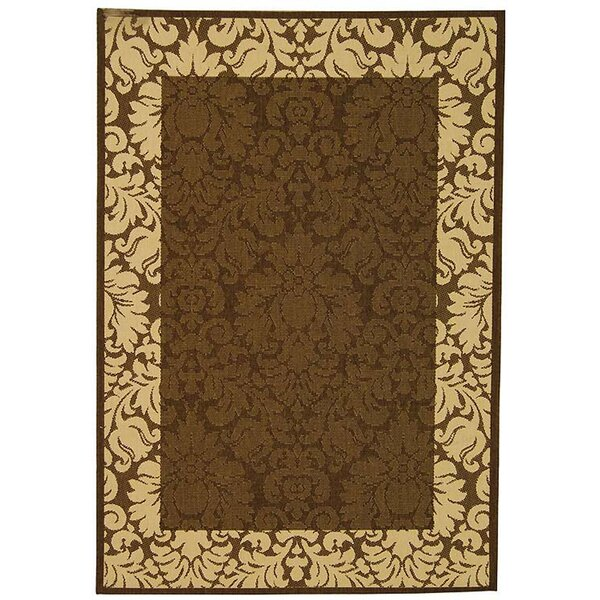 Marland Chocolate/Natural Indoor/Outdoor Area Rug by Charlton Home
