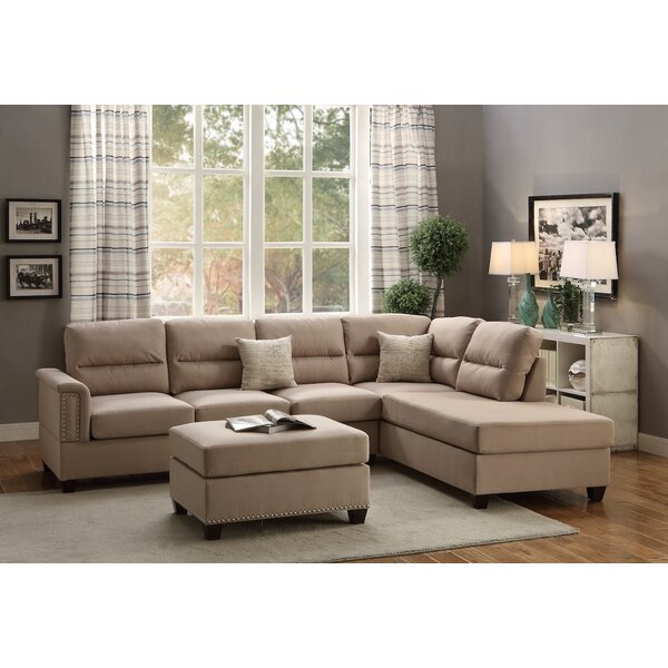 Perfect Brands Wardlow Right Hand Facing Sectional with Ottoman by Winston Porter by Winston Porter