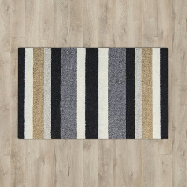 Nesmith Black/Gray Area Rug by Andover Mills