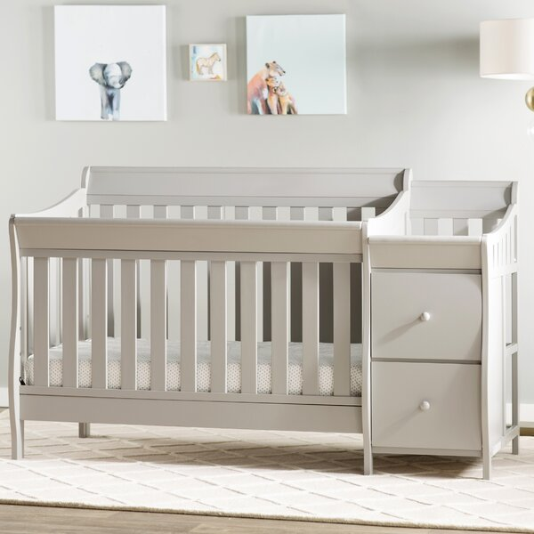 Naomi 4-in-1 Convertible Crib and Changer Combo by