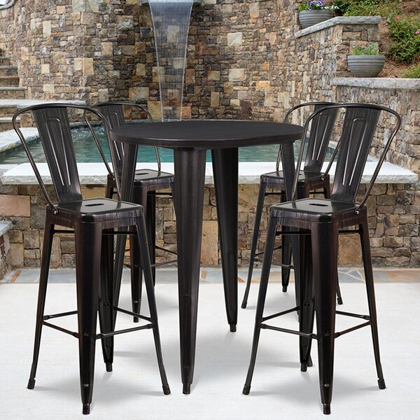Thea 5 Piece Bar Height Dining Set by Williston Forge