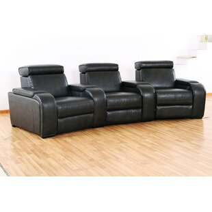 Meadows Home Theater Recliner (Row of 3) by Wildon Home ®