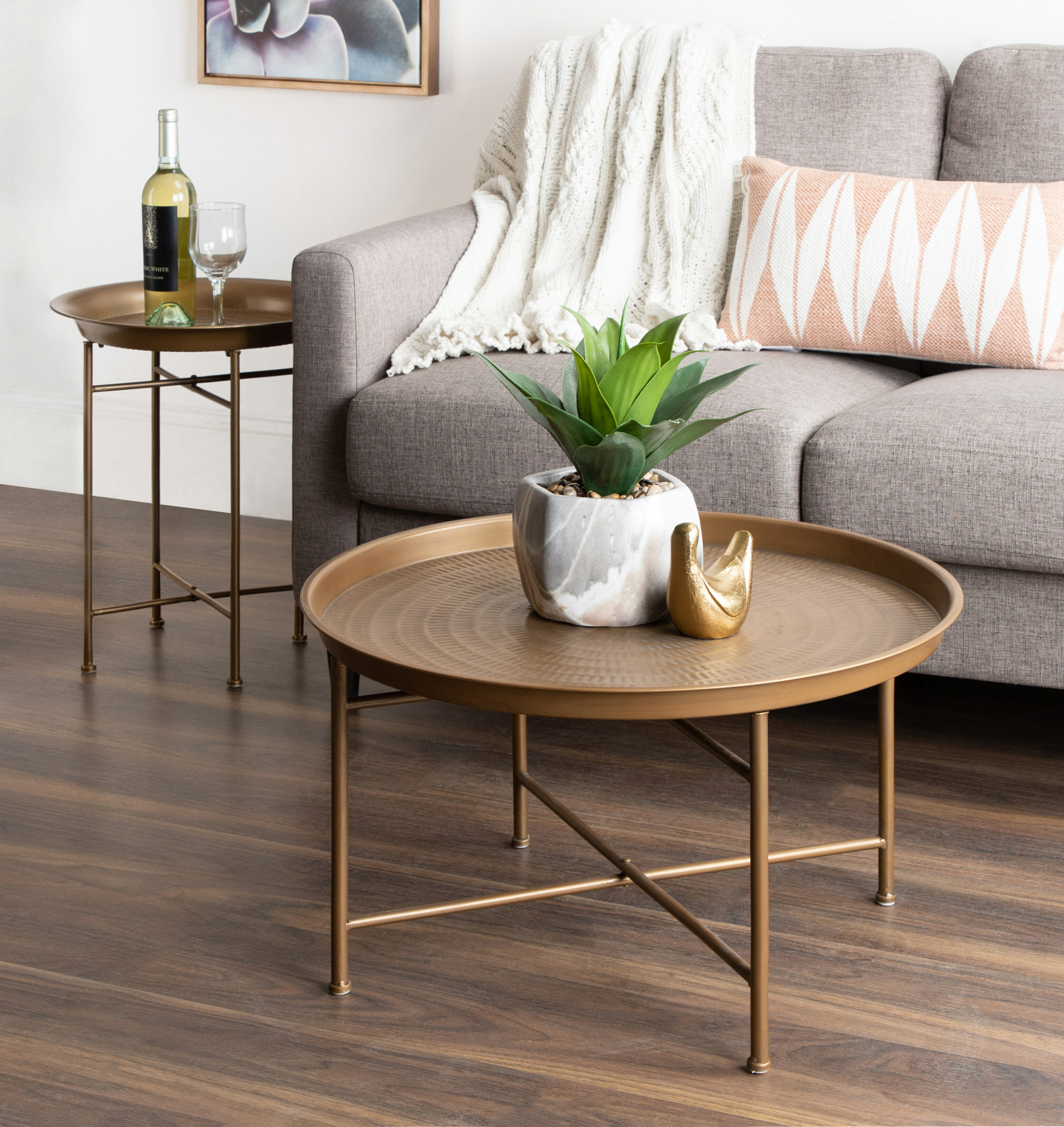 Blue Gold Coffee Tables You Ll Love In 2021 Wayfair