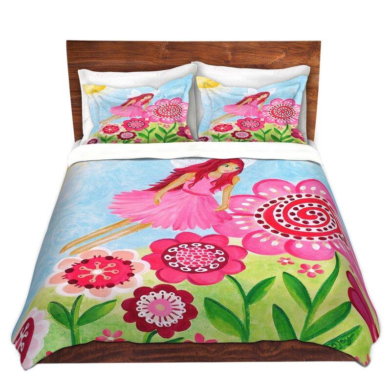 Ebern designs sobers njoy art pink flower fairy microfiber duvet ebern designs sobers njoy art pink flower fairy microfiber duvet covers mightylinksfo