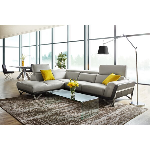 Stebbins Leather Sectional by Orren Ellis