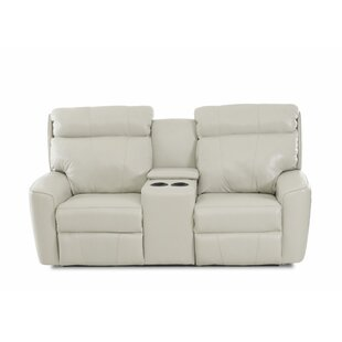 Chau Solid Power Reclining Loveseat With Console By Red Barrel