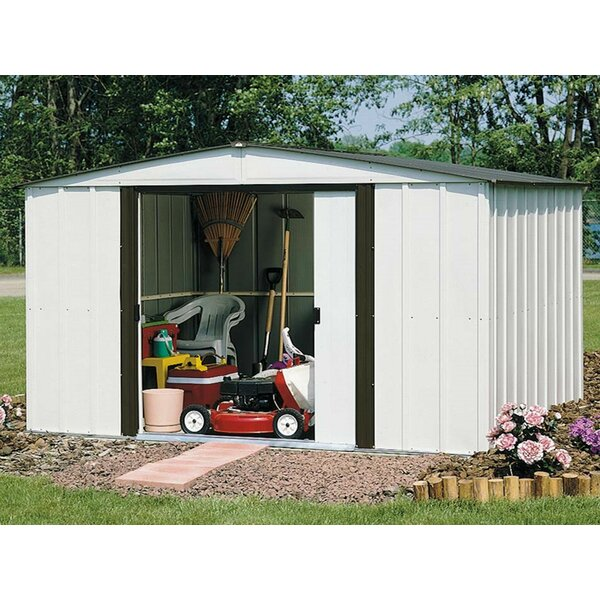 Newburgh 10 ft. 3 in. W x 7 ft. 11 in. D Metal Storage Shed by Arrow