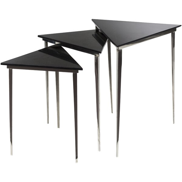 Arianna 3 Piece Nesting Table by Orren Ellis