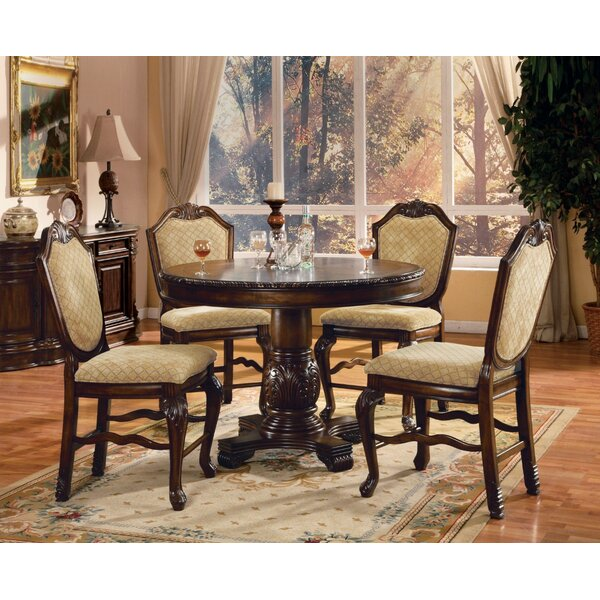 Musso Counter Height Solid Wood Dining Table by Astoria Grand