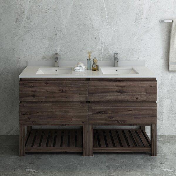 Formosa Floor Standing Open Bottom 58 Double Bathroom Vanity Base Only