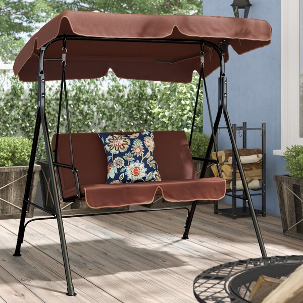 Mansour Patio Loveseat Canopy Hammock Porch Swing With Stand By Winston Porter
