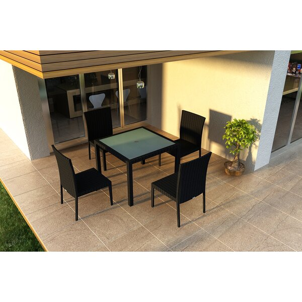 Urbana 5 Piece Sunbrella Dining Set by Harmonia Living