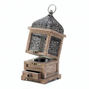 Large Flip Top Wood Lantern