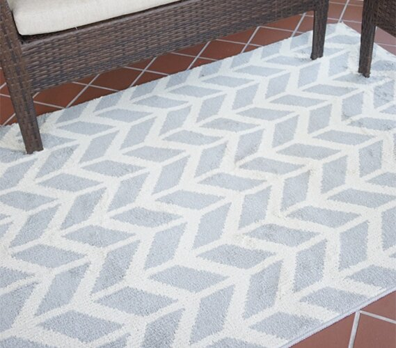 Quint Broken Arrow Gray Area Rug by Orren Ellis