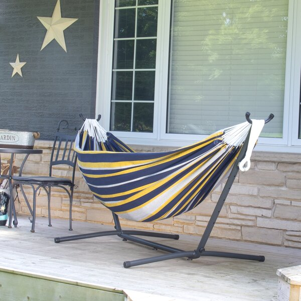 Northey Double Classic Hammock with Stand by Ebern Designs