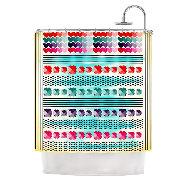 Love Pattern by Famenxt Shower Curtain by East Urban Home