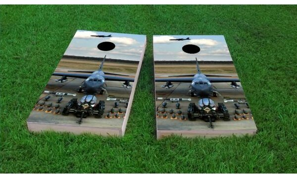 Aircraft Artillery Cornhole Game (Set of 2) by Custom Cornhole Boards
