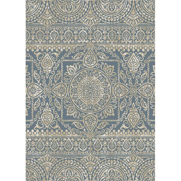 Markus Blue Area Rug by Bungalow Rose