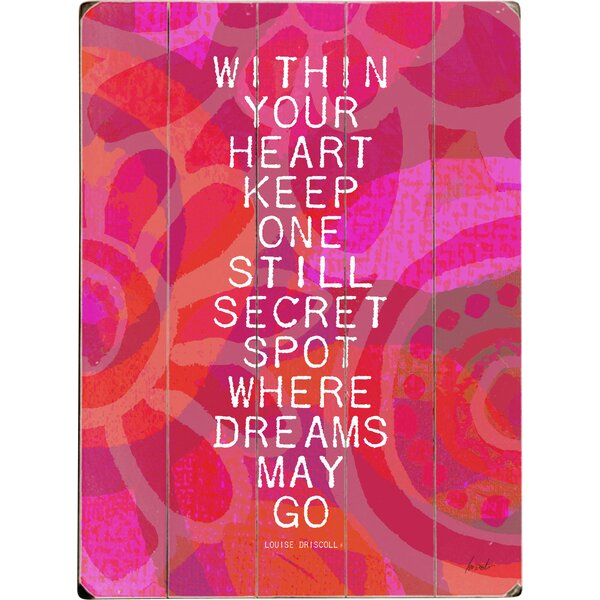Where Dreams May Go Graphic Art Print Multi-Piece Image on Wood by Artehouse LLC