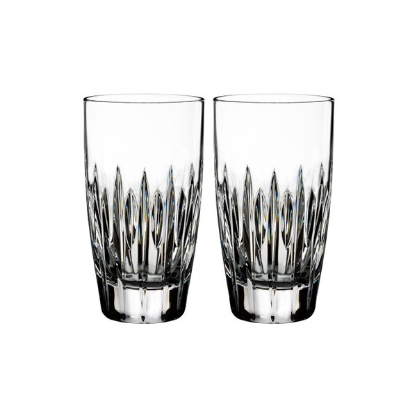 Mara 12 oz. Crystal Highball Glasses (Set of 2) by Waterford