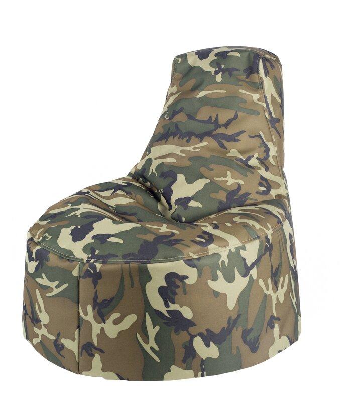 Great Aurore Kids Durable Camo Bean Bag Chair For Freeport Park