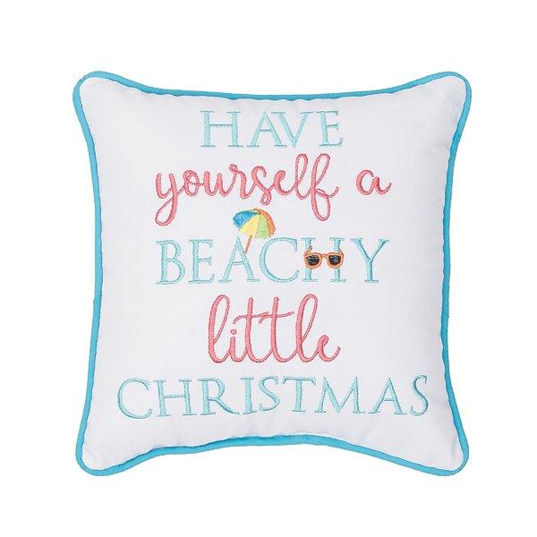 Georgitte Beachy Little Christmas Cotton Throw Pillow by Highland Dunes