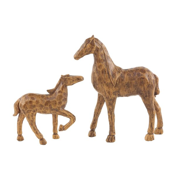 Helfrich Horse Resin 2 Piece Figurine Set by World Menagerie