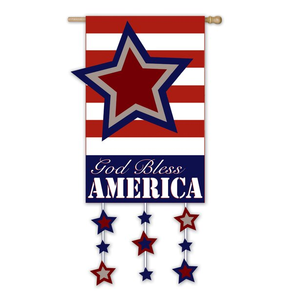God Bless America Vertical Flag by Evergreen Flag & Garden