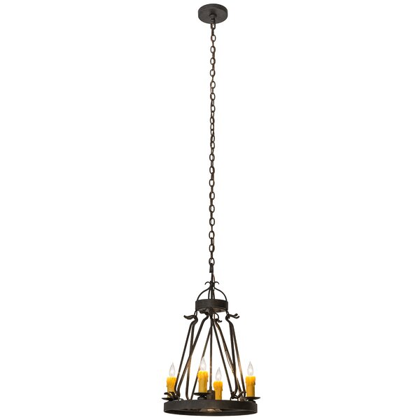 Timmy 5 - Light Candle Style Wagon Wheel Chandelier by Loon Peak Loon Peak
