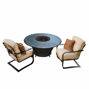 Owego 6 Piece Rust-Resistant Aluminum Conversation Set with Cushions Darby Home Co