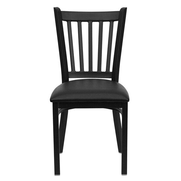 Lomonaco Upholstered Slat Back Side Chair By Winston Porter