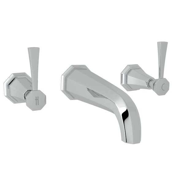 Deco Wall Mount Widespread Bathroom Faucet By Perrin & Rowe