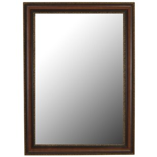 Second Look Mirrors Polynesian Coco Brown Gold Trim Wall Mirror