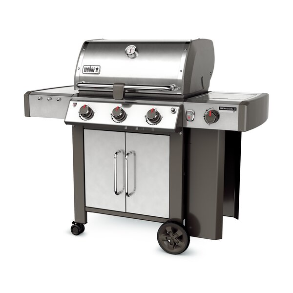 Genesis II LX S-340 3-Burner Propane Gas Grill with Side Burner by Weber