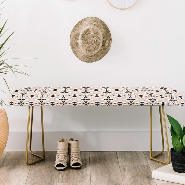 Marta Barragan Camarasa Mosaic Geometric Upholstered Bench by East Urban Home