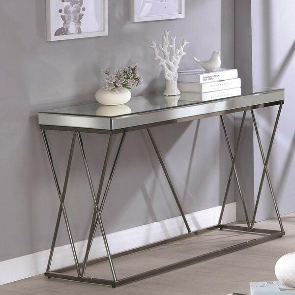 Home & Garden Keenan Modern Mirrored Console Table