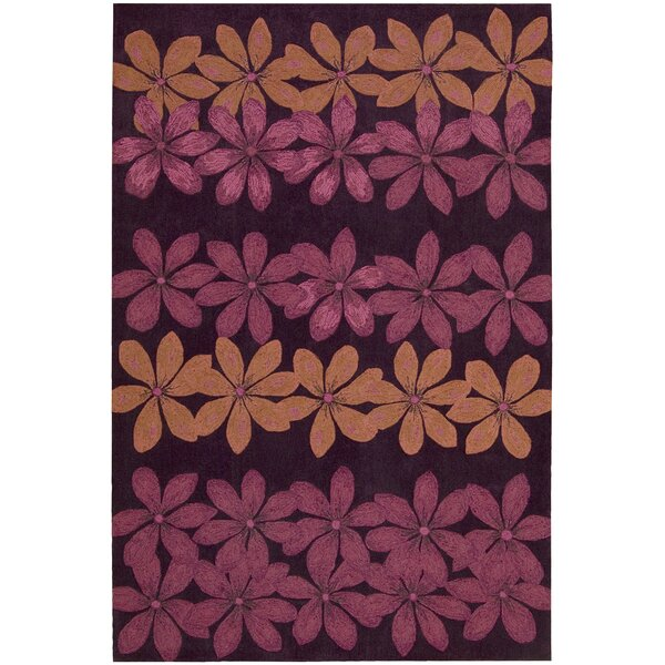 Dominey Hand-Tufted Plum Area Rug by Zoomie Kids