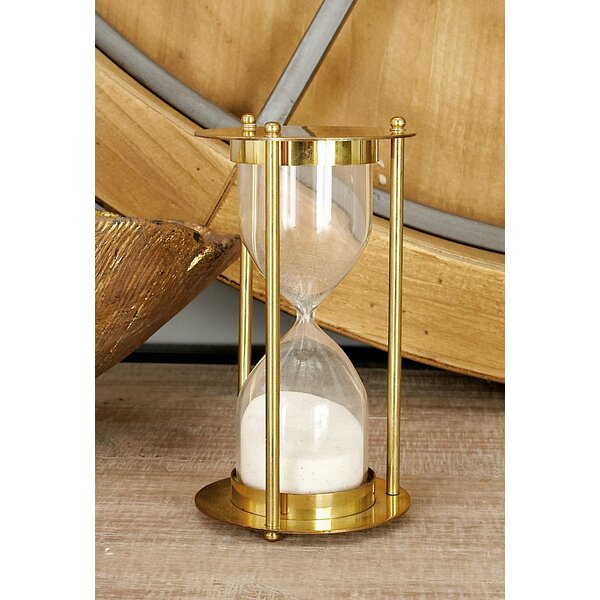 Brass Glass Sand Timer Hourglass by Cole & Grey