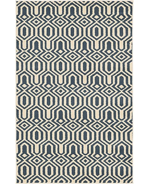 Seattle Navy Blue Area Rug by Langley Street