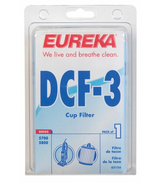 The Bagless Carded Dust Cup Vaccum Filter by Eureka
