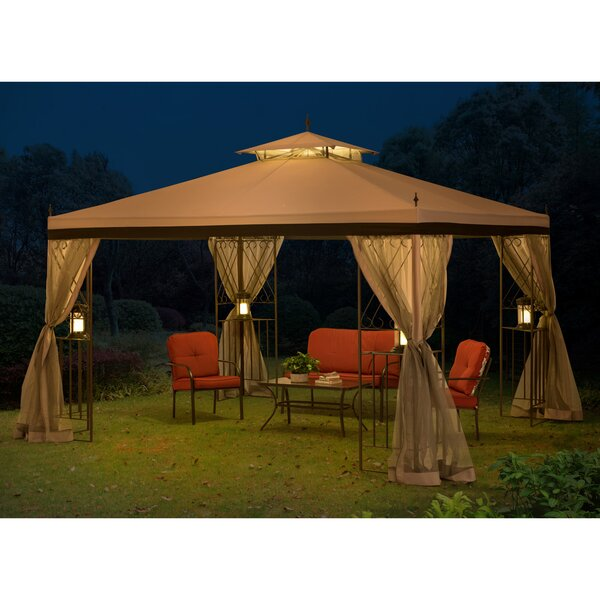 12 Ft. W x 9 Ft. D Steel Patio Gazebo with Mosquito Netting by Sunjoy
