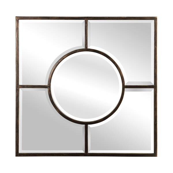 Annabella Forged Iron Accent Mirror by Breakwater Bay