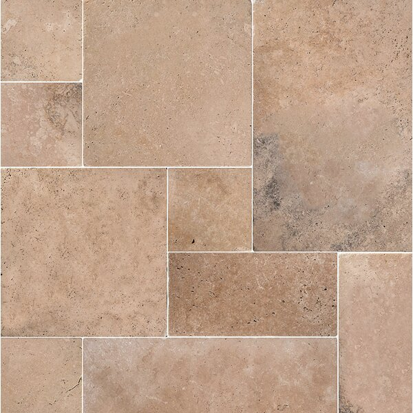 Pacifica Random Sized Travertine Field Tile in Brown by Parvatile