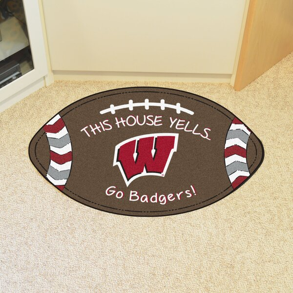 NCAA Wisconsin Southern Football 35 in. x 22 in. Non-Slip Indoor Only Door Mat