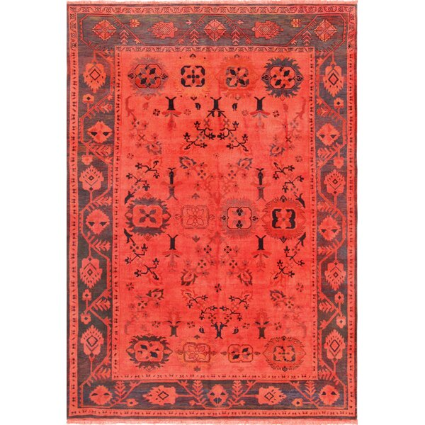 Overdye Hand-Knotted Wool Red Area Rug by Pasargad