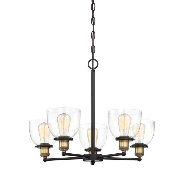 Thirza 5 - Light Shaded Classic / Traditional Chandelier By Wrought Studio