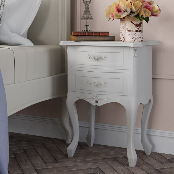 Lily Manor Alo 232 S 2 Drawer Bedside Table Amp Reviews