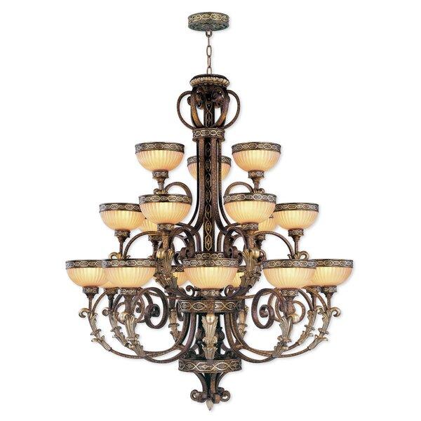 Schweizer 18-Light Shaded Tiered Chandelier by Astoria Grand Astoria Grand